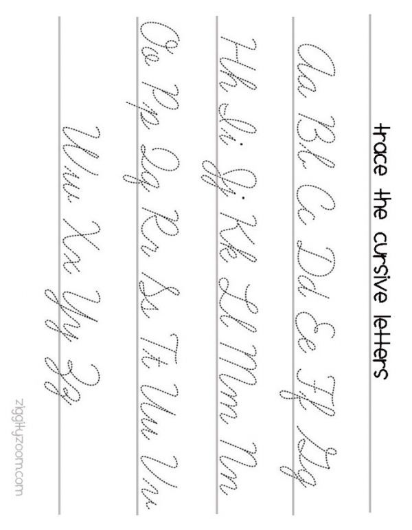 Cursive Letters Worksheet Newsinvitation