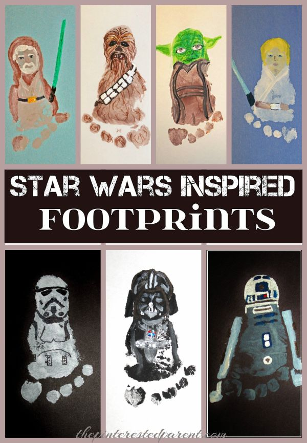 Star Wars Inspired Footprint Crafts - Adorable Keepsakes ...