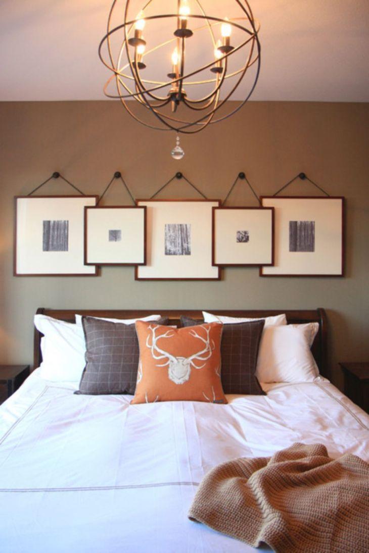 Lovely DIY Bedroom Lighting Inspiration Diy bedroom Wall art