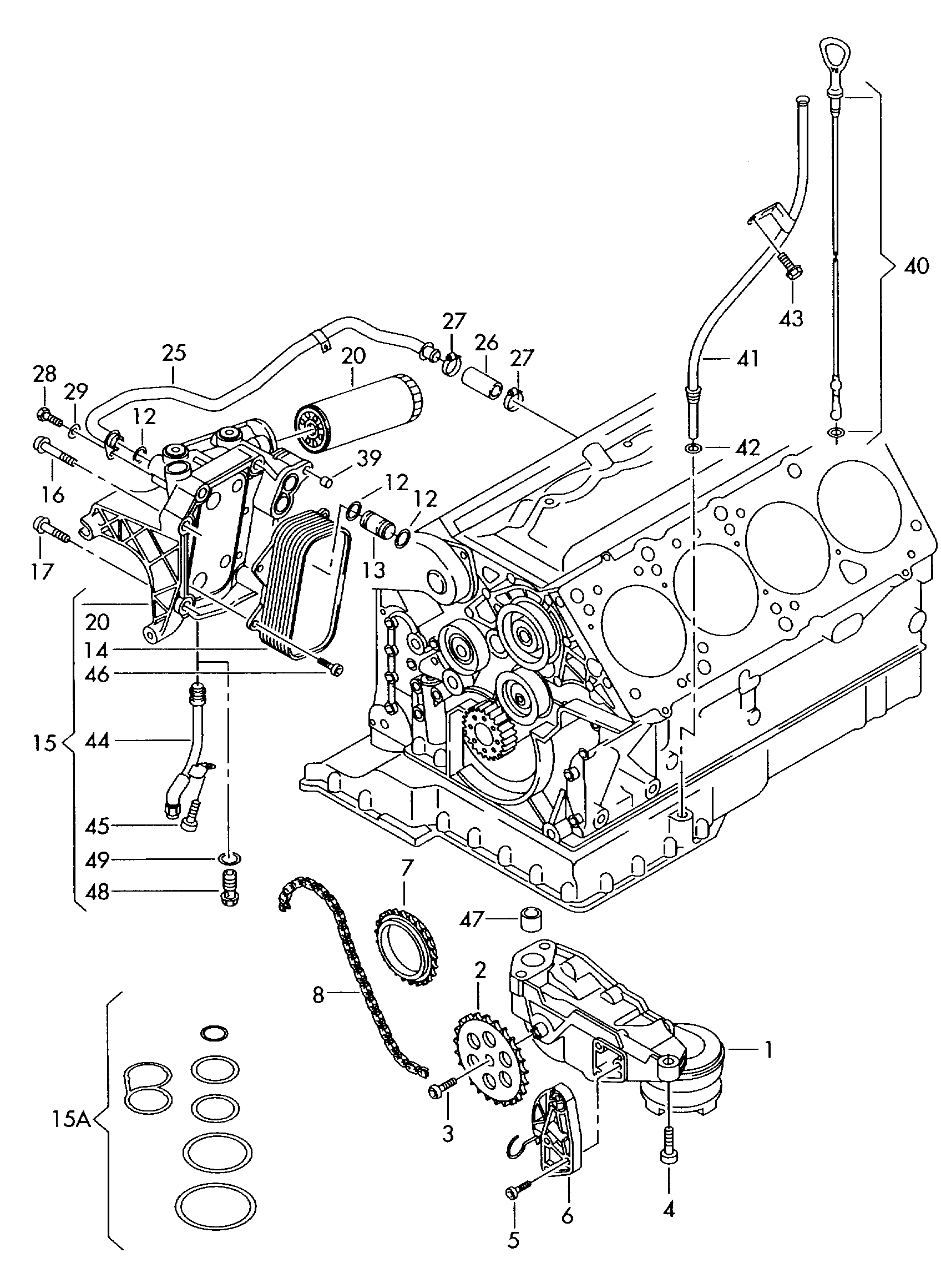 Engine Audi A6q Oil Pump Oil Filter Oil Filter