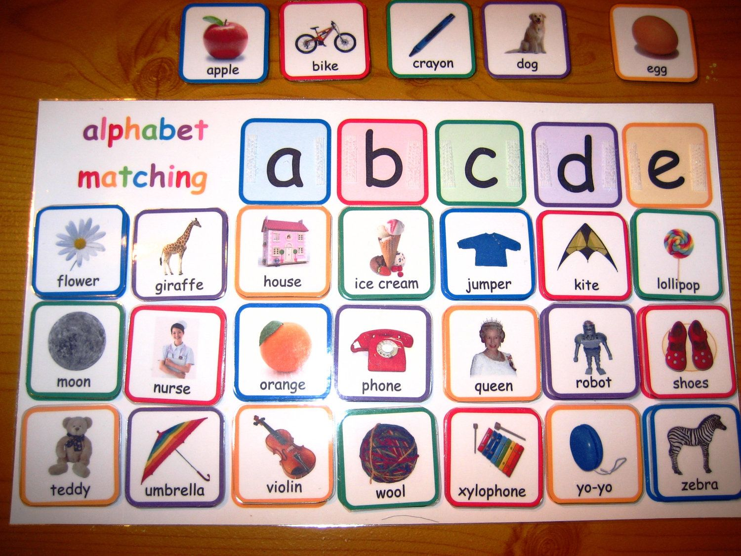 Alphabet Printable File Folder Game
