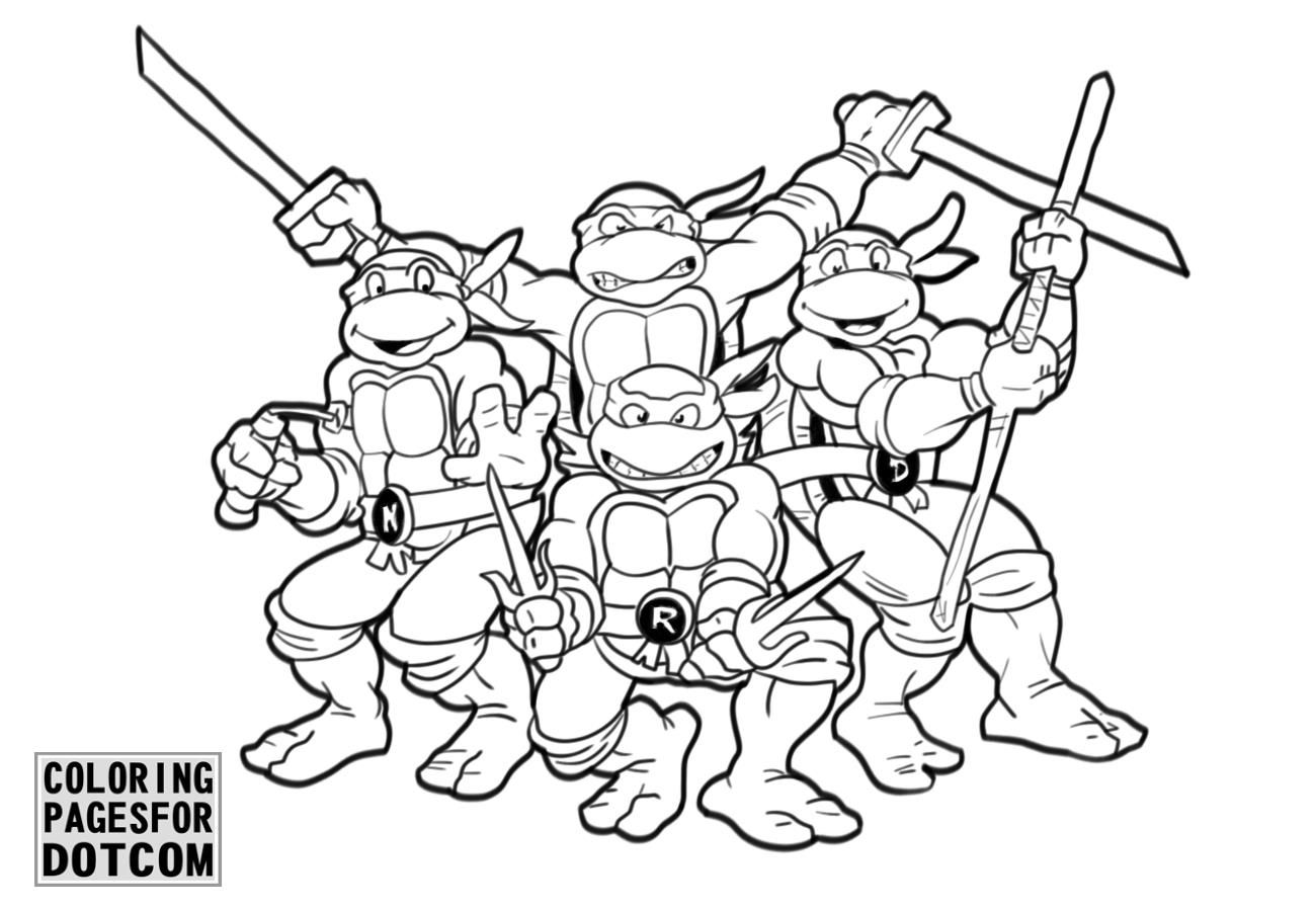 Ninja Turtles Coloring Pages 1 Printable Coloring Book Coloring Sheets