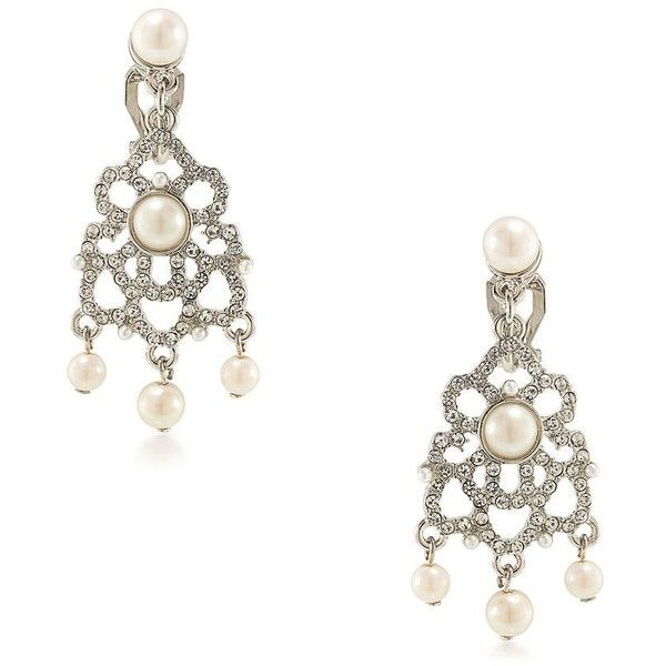 Carolee Washington Square Faux Pearl Chandelier Earrings 55 Liked On Polyvore Featuring Jewelry