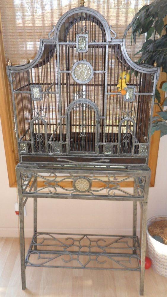 Bird Cageplanter Stand Heavy Metal And Very Unique Bird