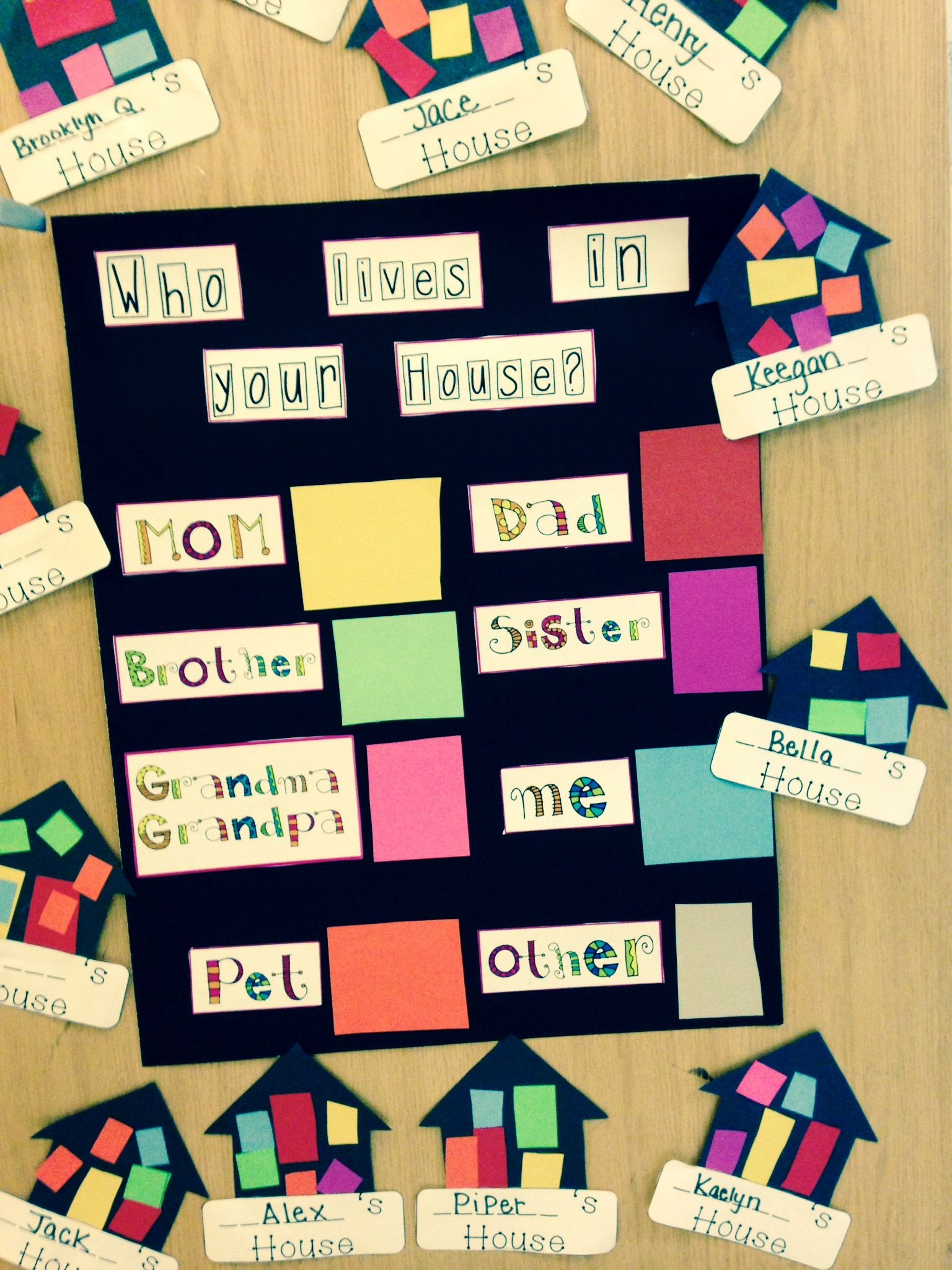 Great Math Activity To Support I Am Special My Family Children Were Required To Cut Out The
