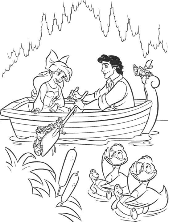 Disney Princess Ariel And Eric Coloring Pages Rsad