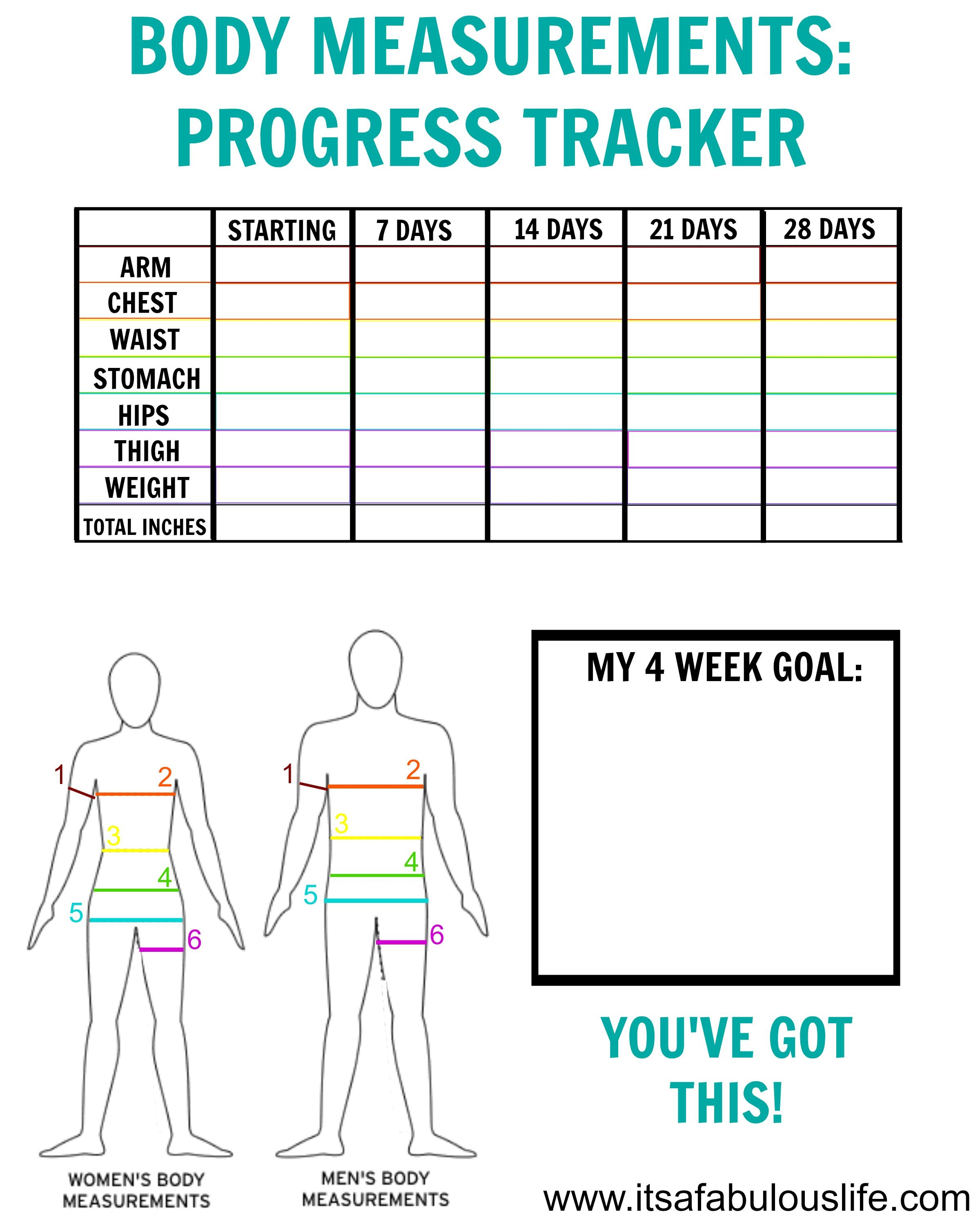 How To Take Your Body Measurements Free Printable Tracker