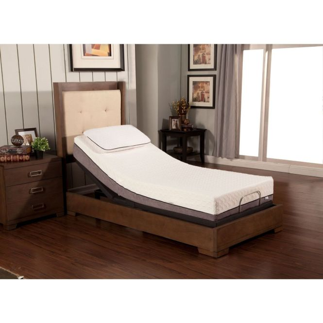 Sleep Zone Huntington 10 Inch Twin Xl Size Memory Foam Mattress And Adjule Bed