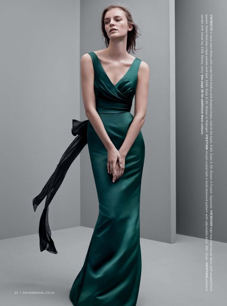 I wish I had a reason to wear this gorgeous bottle green satin dress