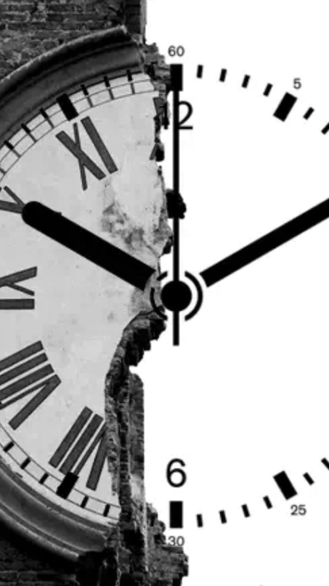 clock shape broken wall #iphone #6 #plus #wallpaper | iphone 6