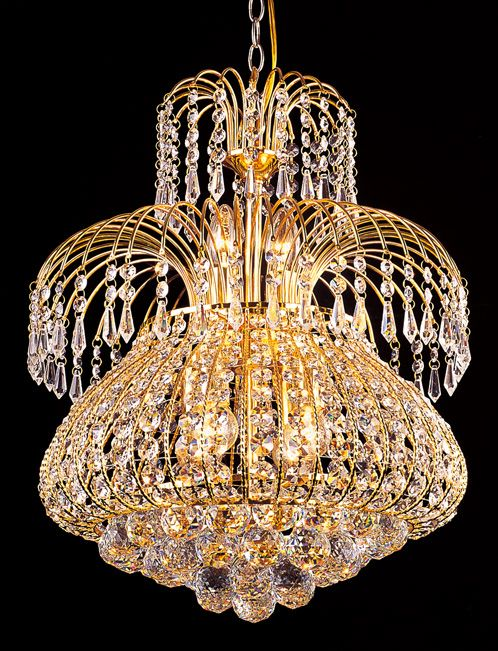 The Glass Chandelier Is Transpa Which Reflects Light And Creates A Dazzling Effect At Night