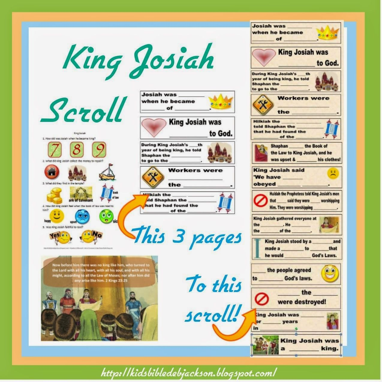 King Josiah Is Such A Fun Lesson For Kids There Are Some