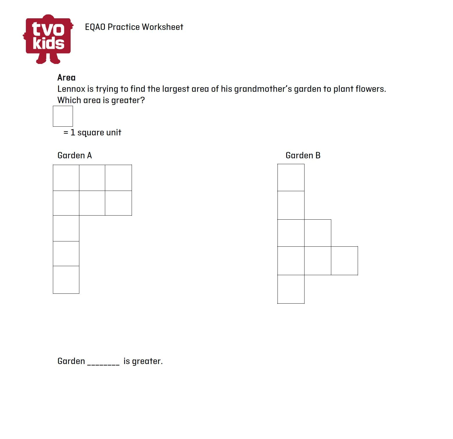 Eqao Practice Worksheet