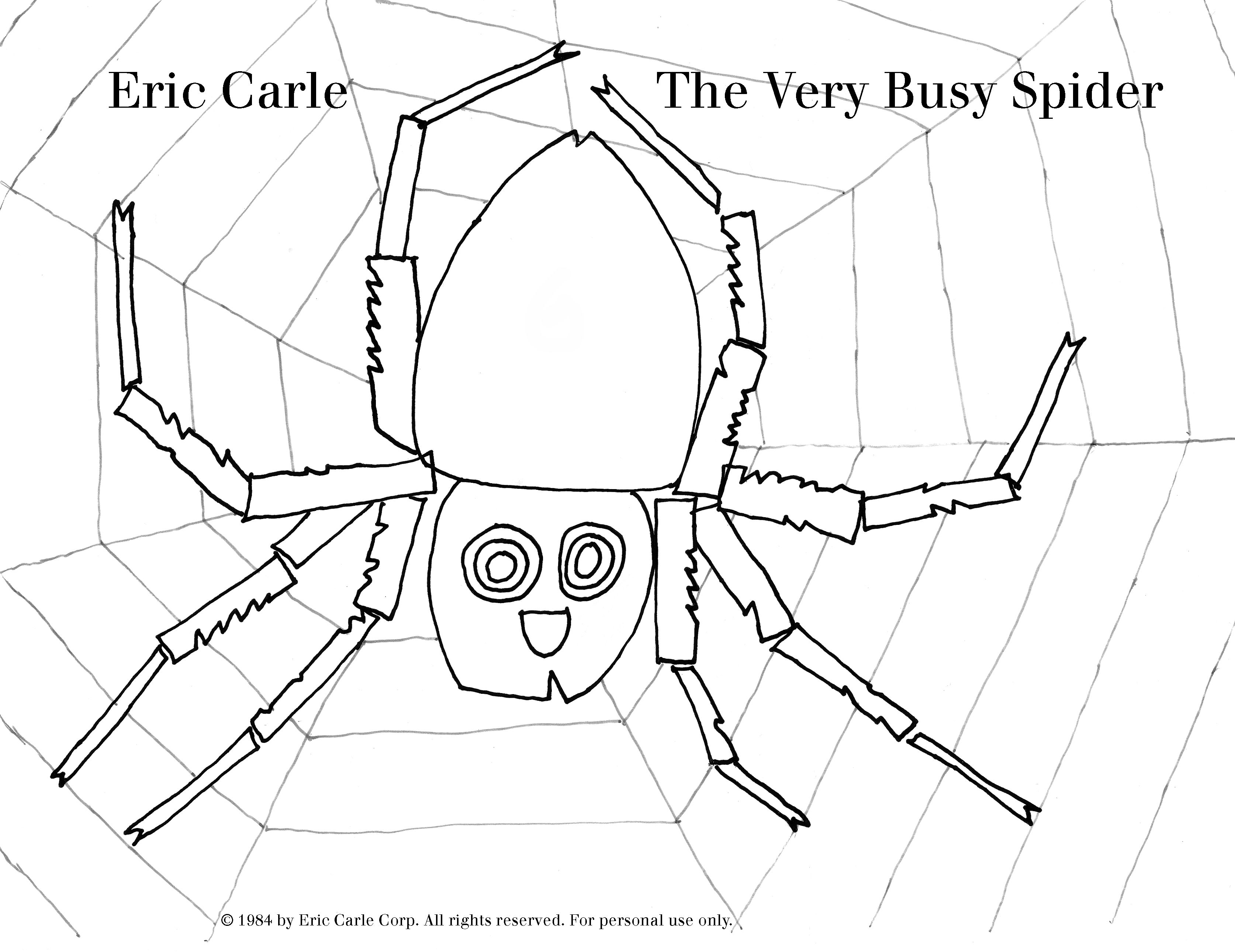 The Very Busy Spider Coloring Page