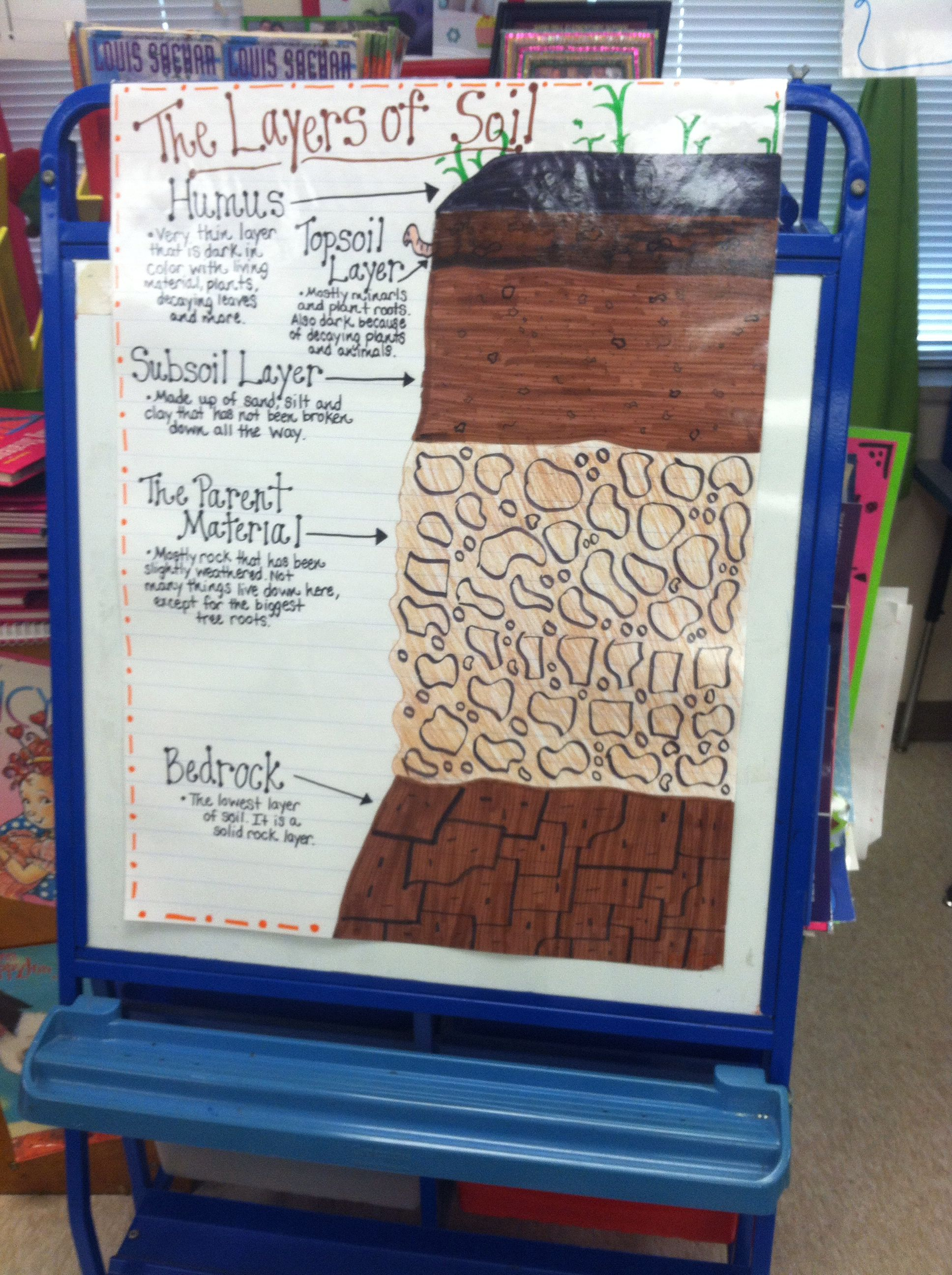 The Layers Of Soil Anchor Chart 3rd Grade Science Standard