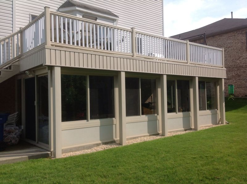 How To Build A Sunroom Under Deck Howsto Co