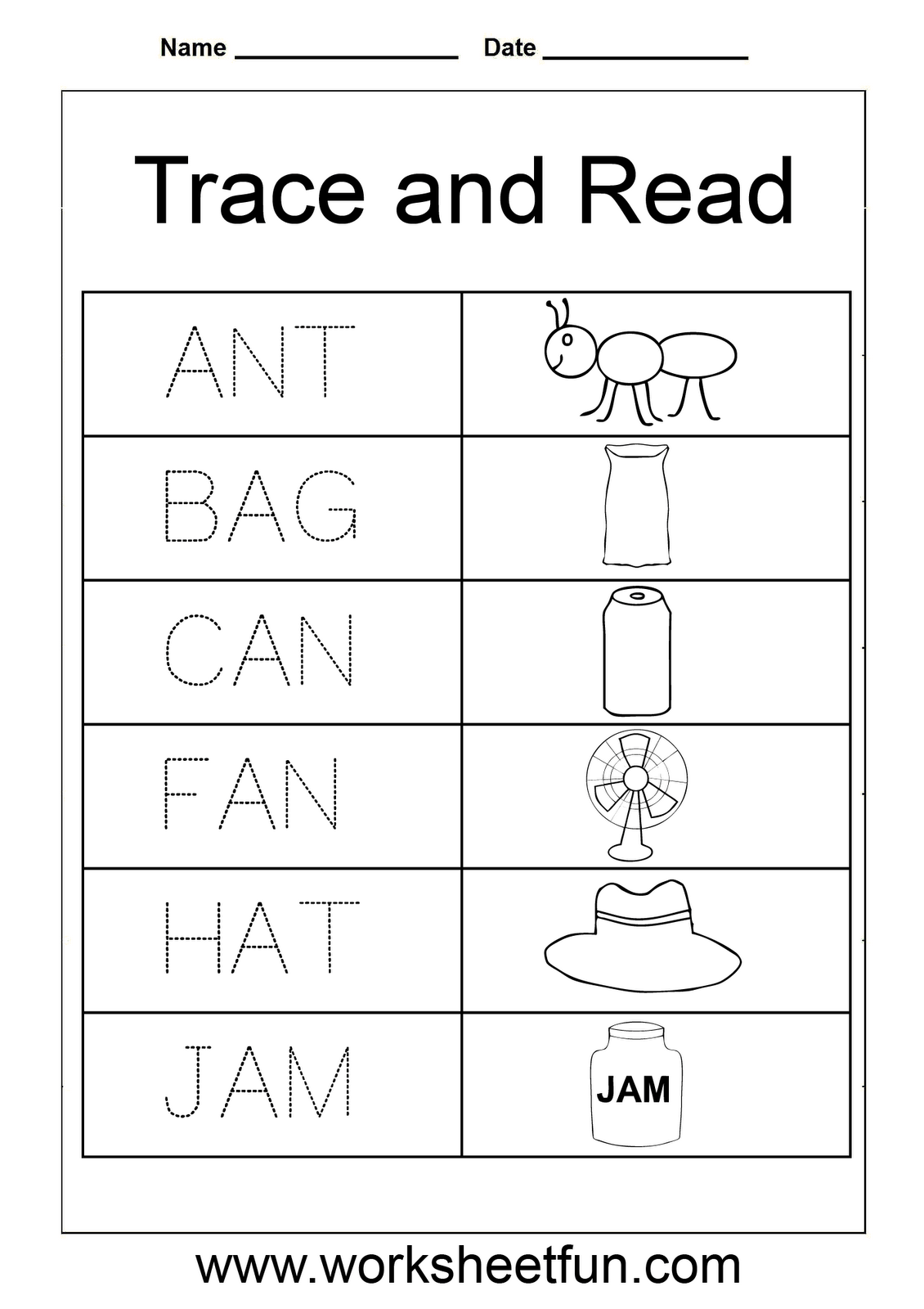 Trace And Read M Worksheet 1