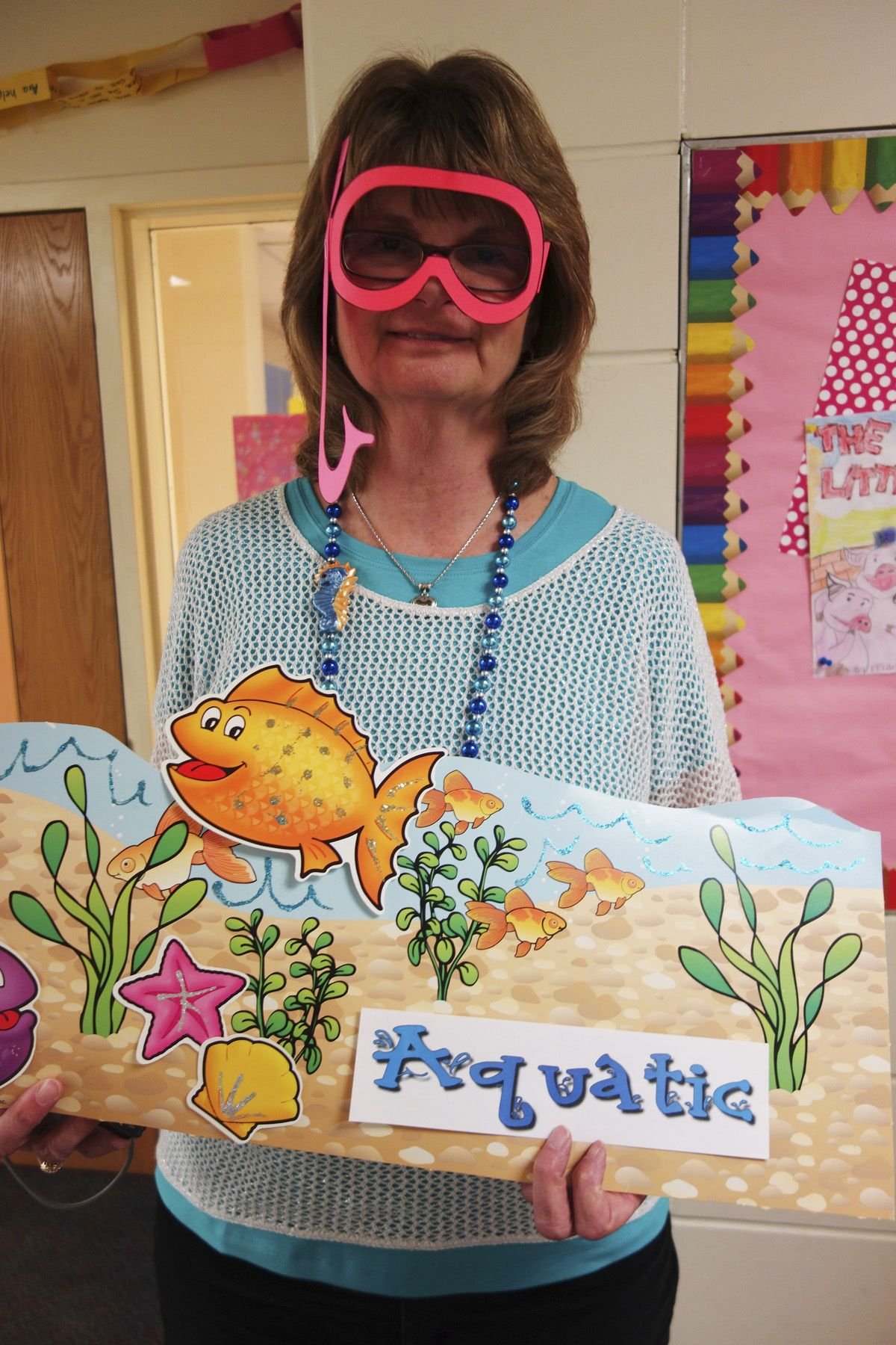 Aquatic Is This Teacher S Word For The Vocabulary Parade