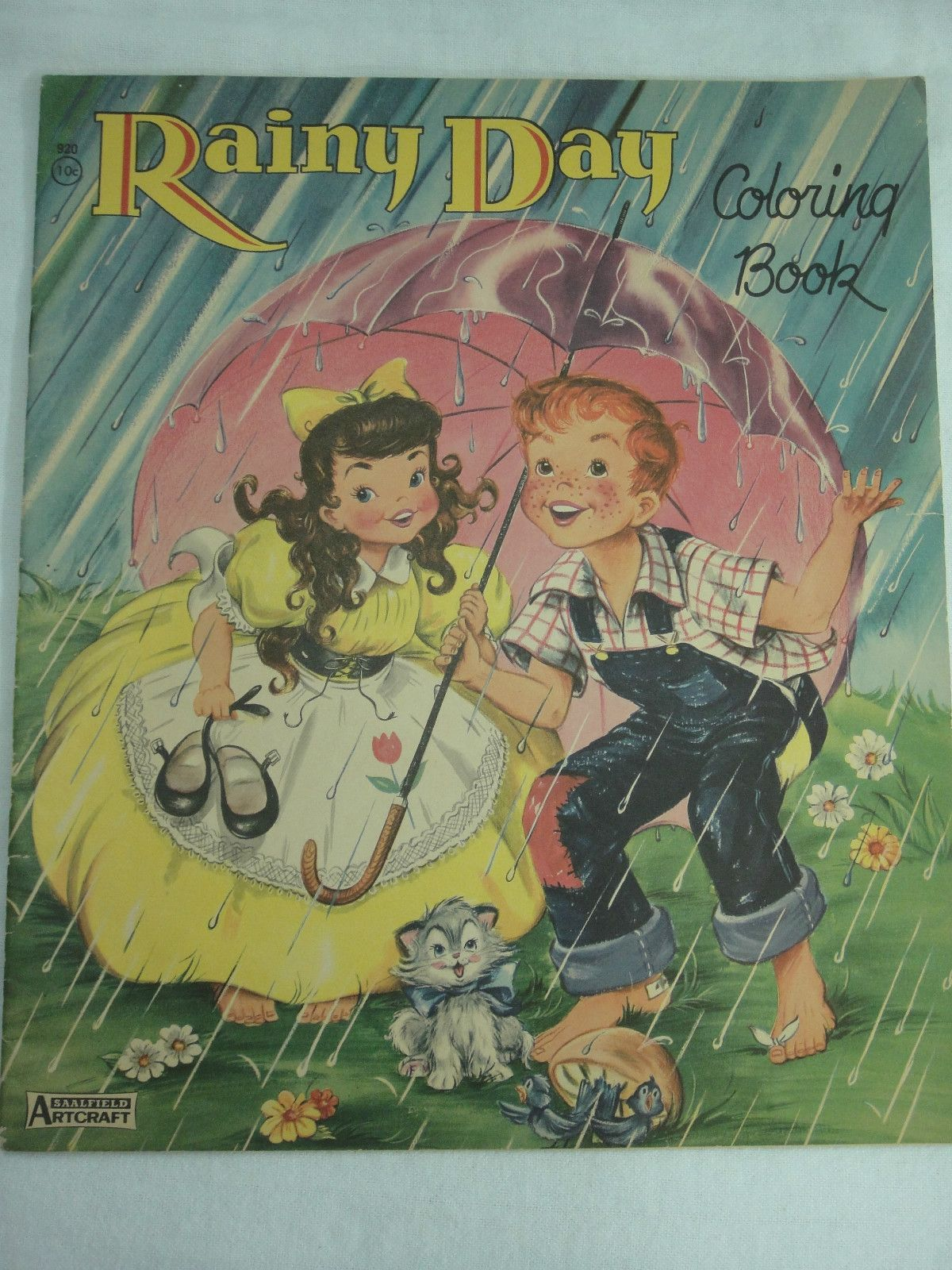 Rainy Day Coloring Book By Saalfield