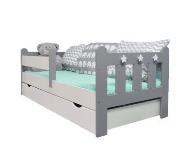 Stanley Toddler Junior Bed Grey White Coolmax Pocket Sprung Mattress From Our