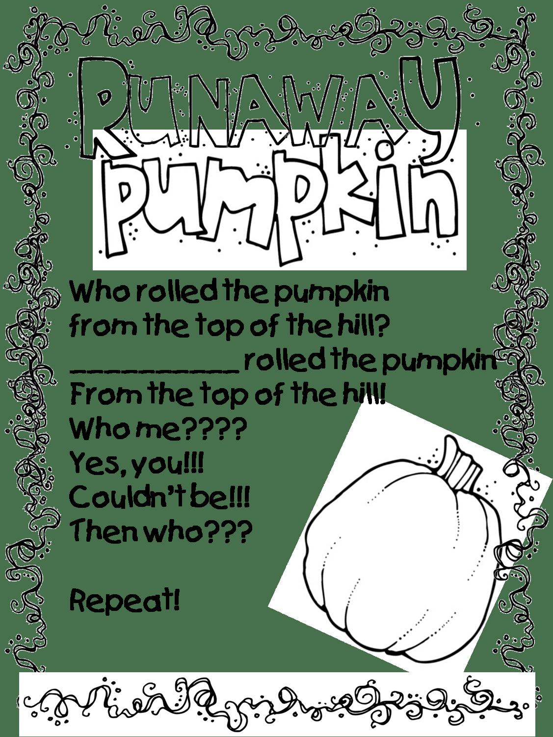 First Grade Wow Runaway Pumpkin
