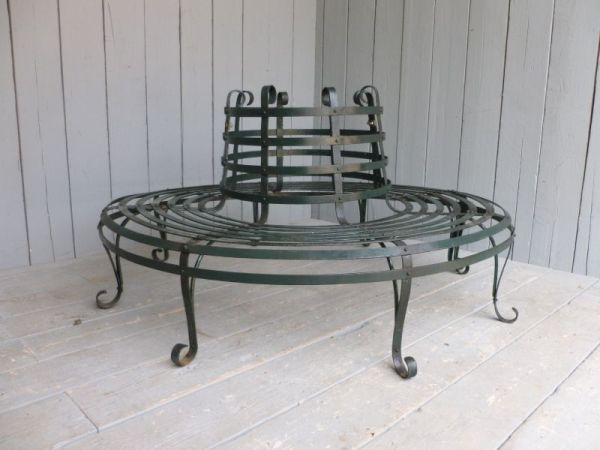 steel roundabout garden bench Antique Wrought Iron Round Garden Tree Seat ,tree seat