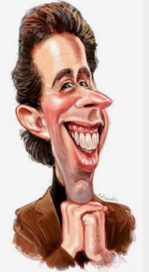 Image result for Jerry Seinfeld caricature