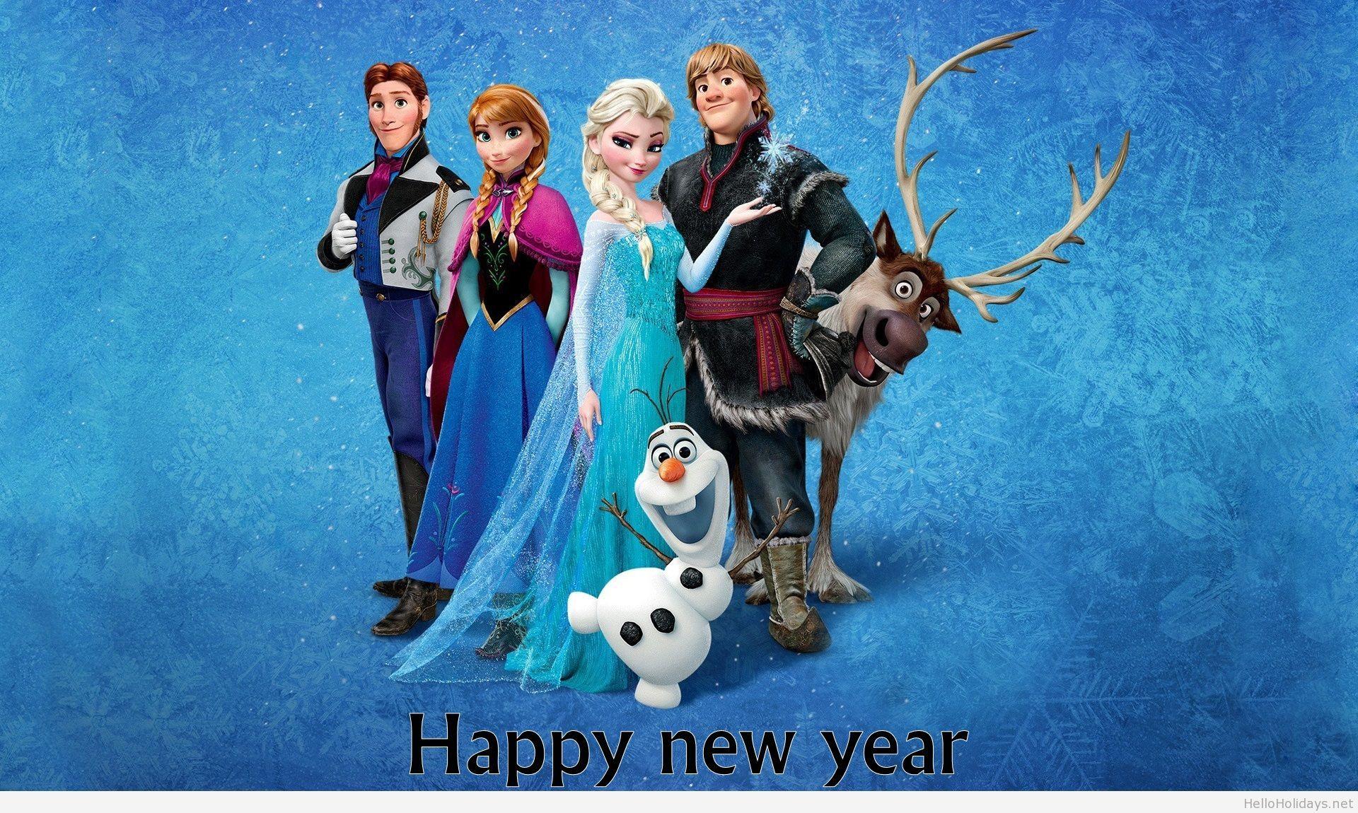 frozen happy new year