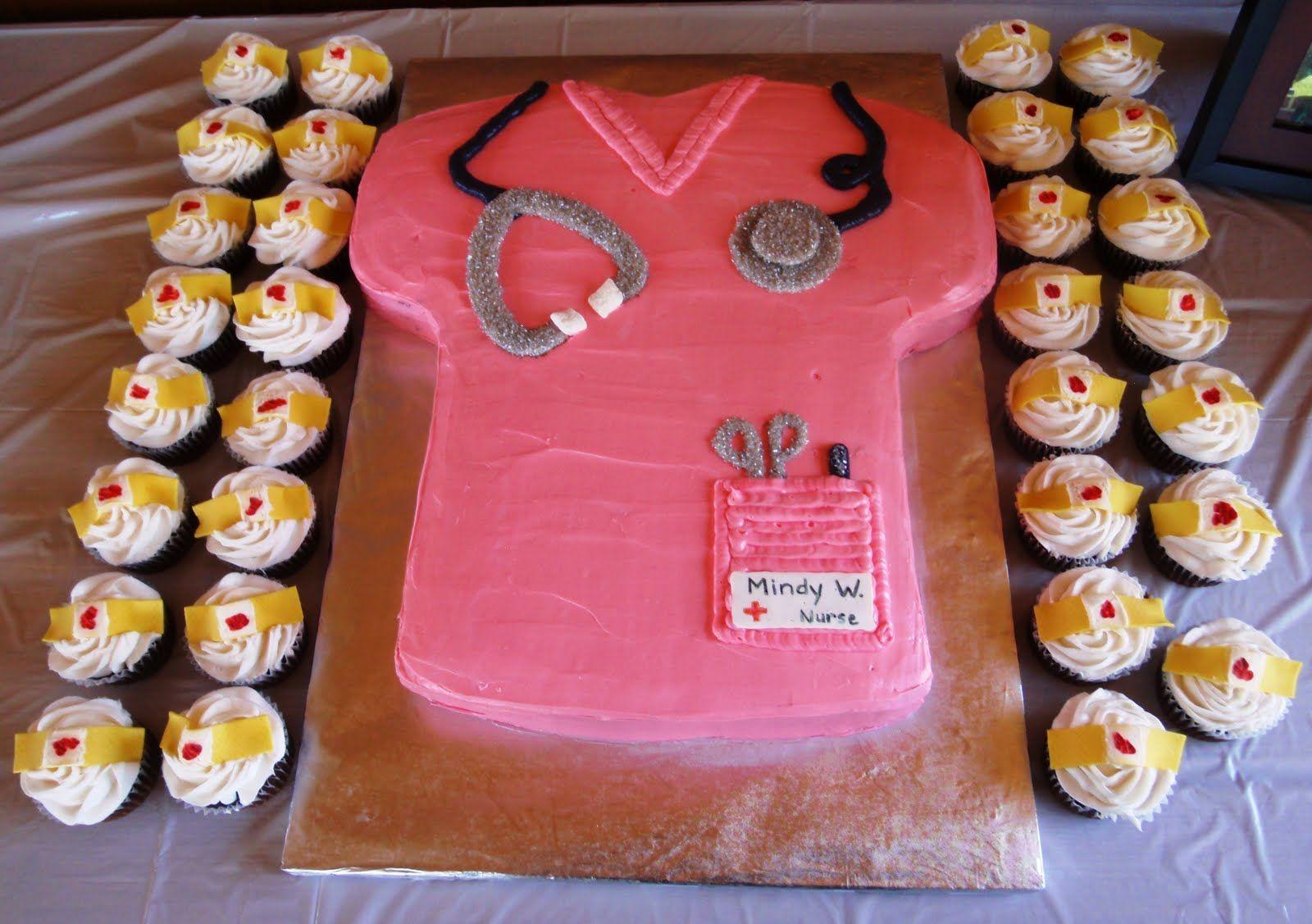 Nursing Grad Party Cake Cupcakes