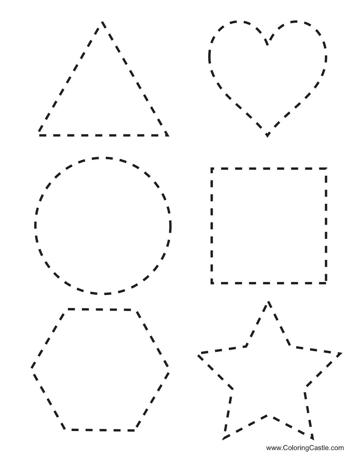Number Letter And Shape Tracing