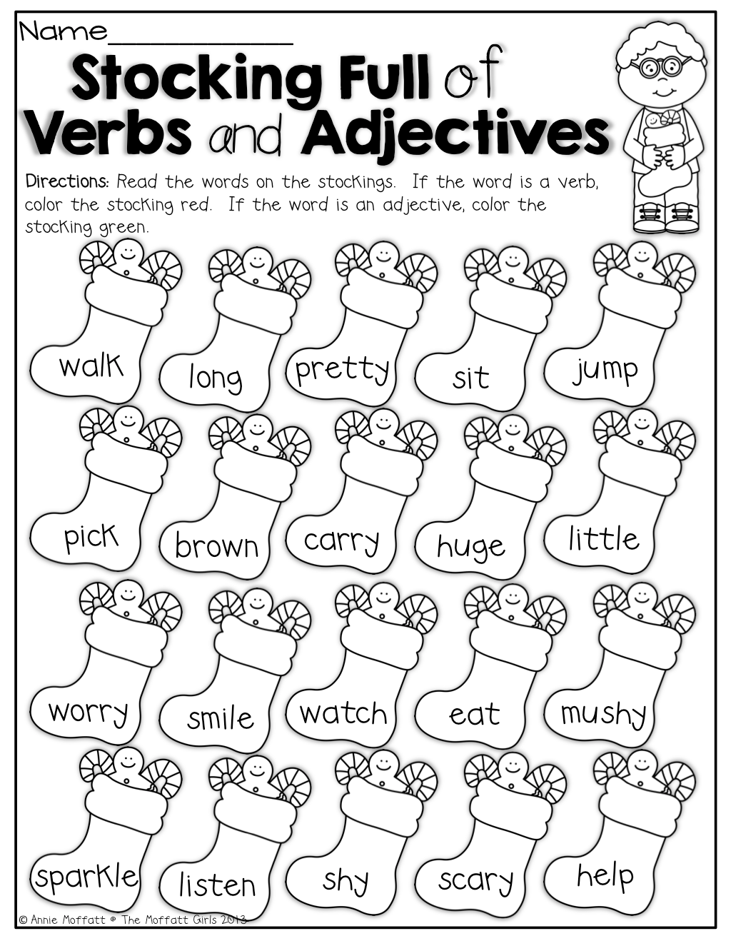 Verbs And Adjectives Color By The Code