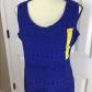 Lace dress royal blue  Beautiful Royal Blue Lace Sleeveless Dress M New TIANA B Womenus
