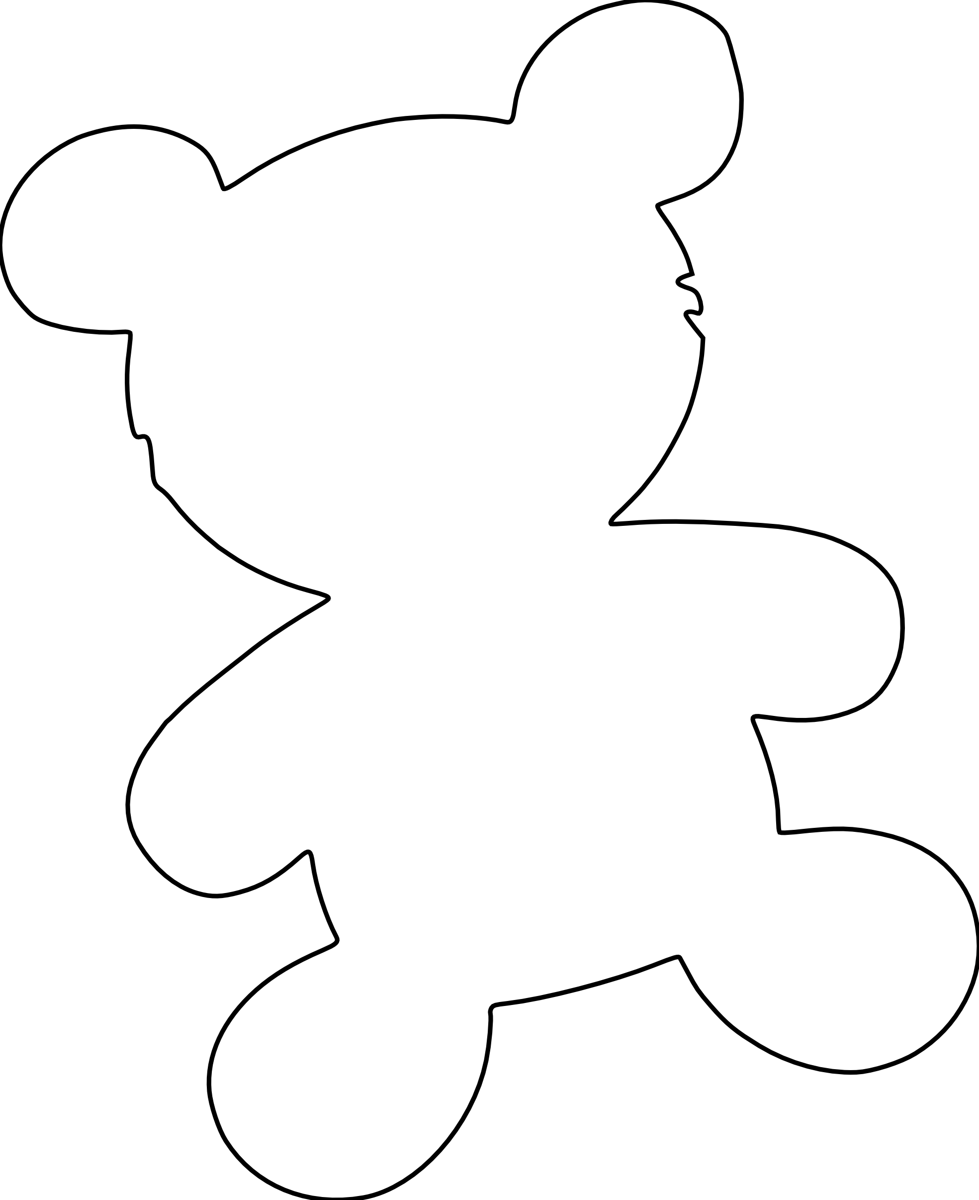 Teddy Bear Ears Headband Template