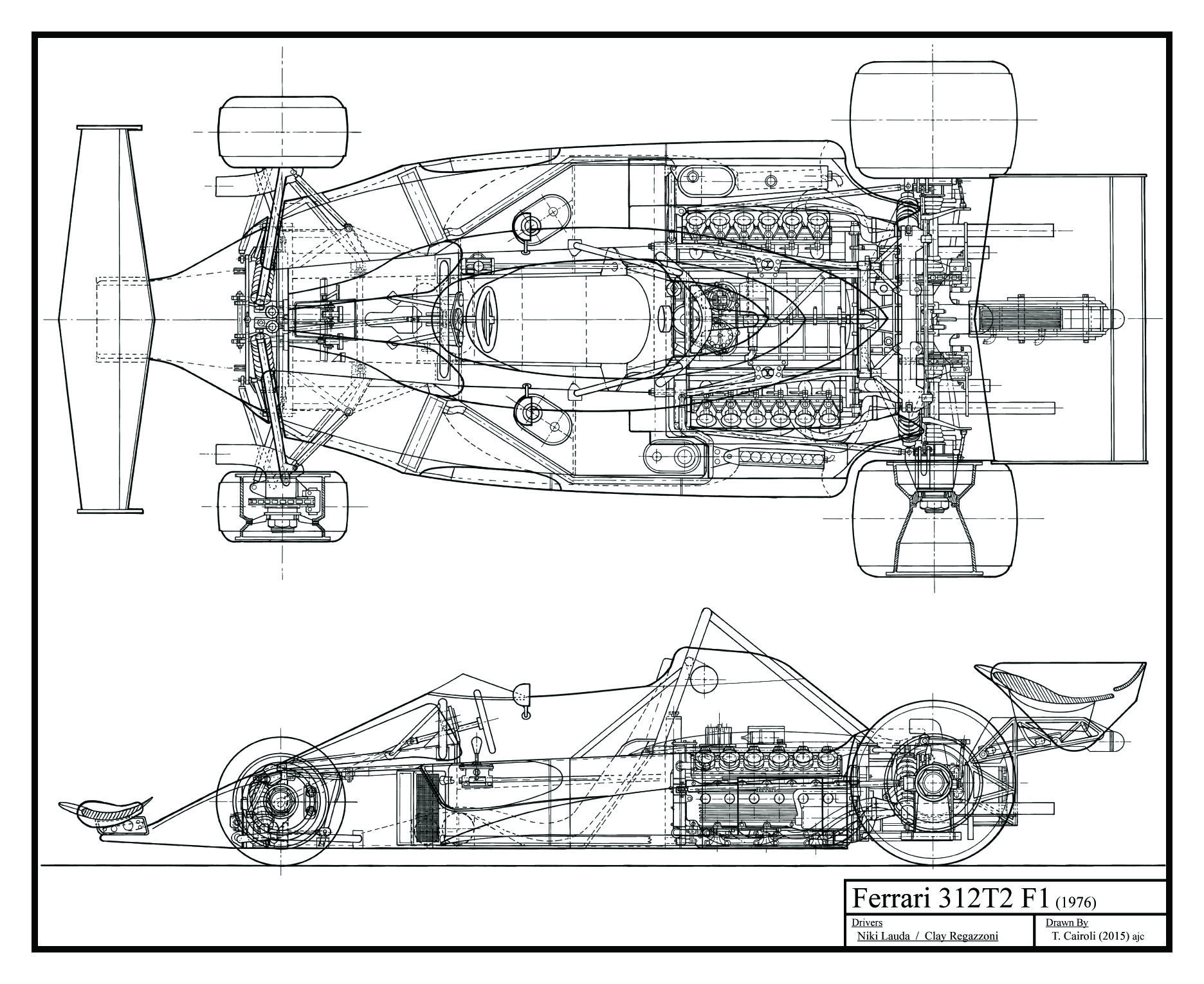 Ferrari 312 Blueprints