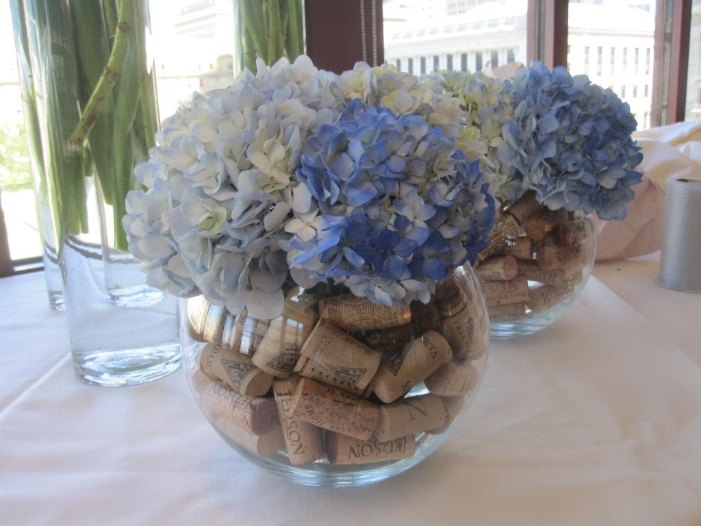 Wedding Centerpieces For The Bar; Navy And White Wedding