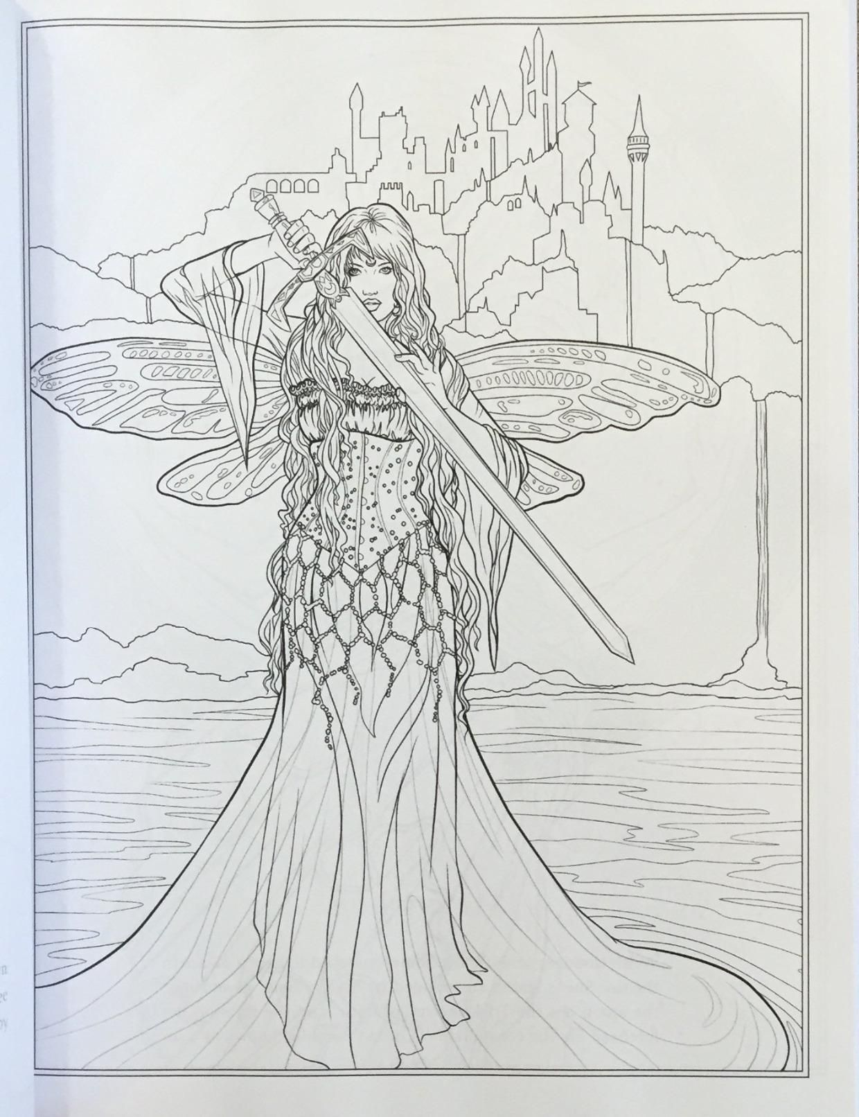 Amazon Goddess And Mythology Coloring Book Fantasy