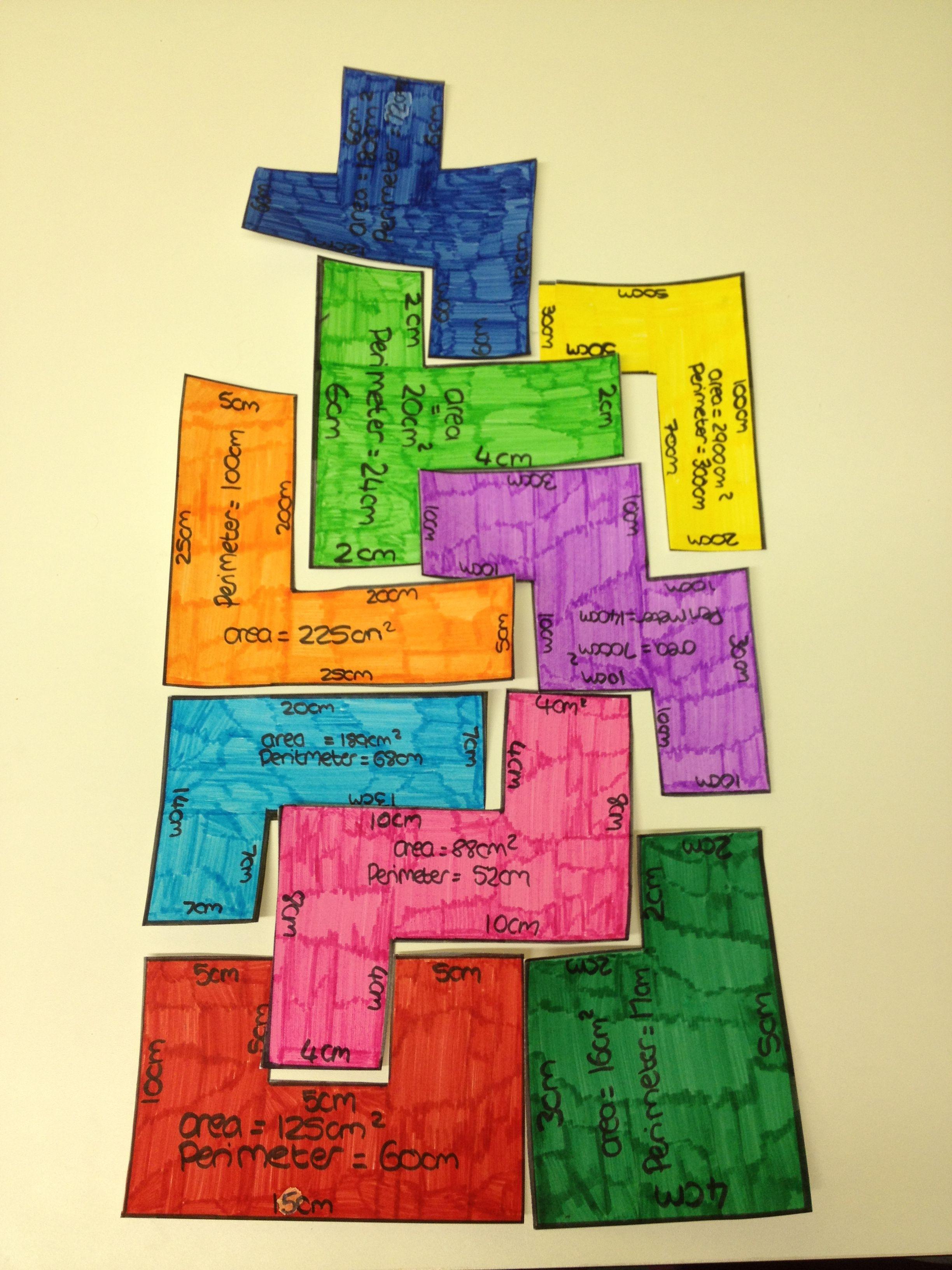 Area And Perimeter Tetris