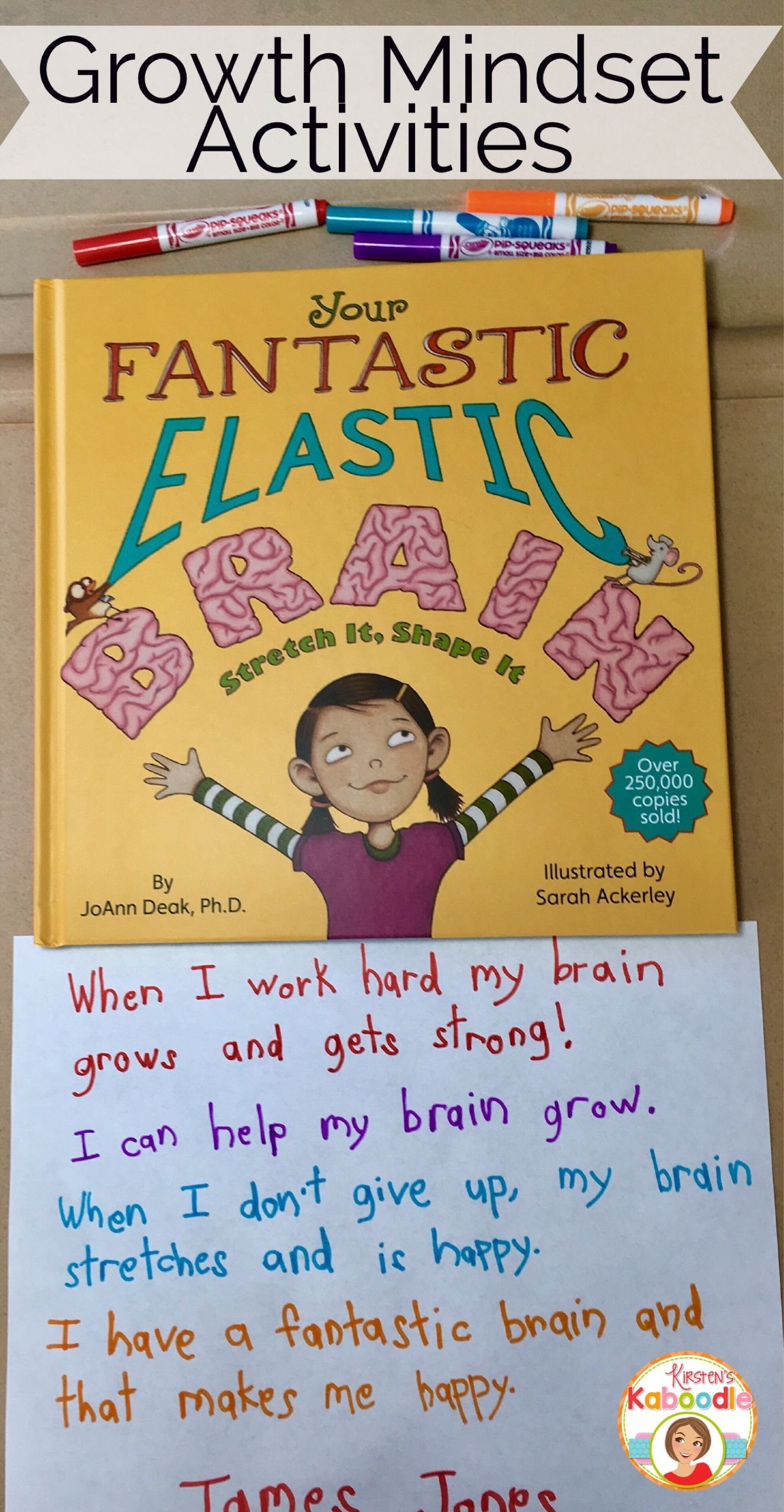 Teaching Growth Mindset With Your Fantastic Elastic Brain