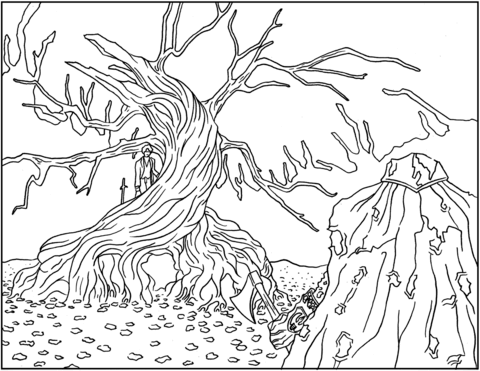 The Legend Of Sleepy Hollow Coloring Page Coloring Pages