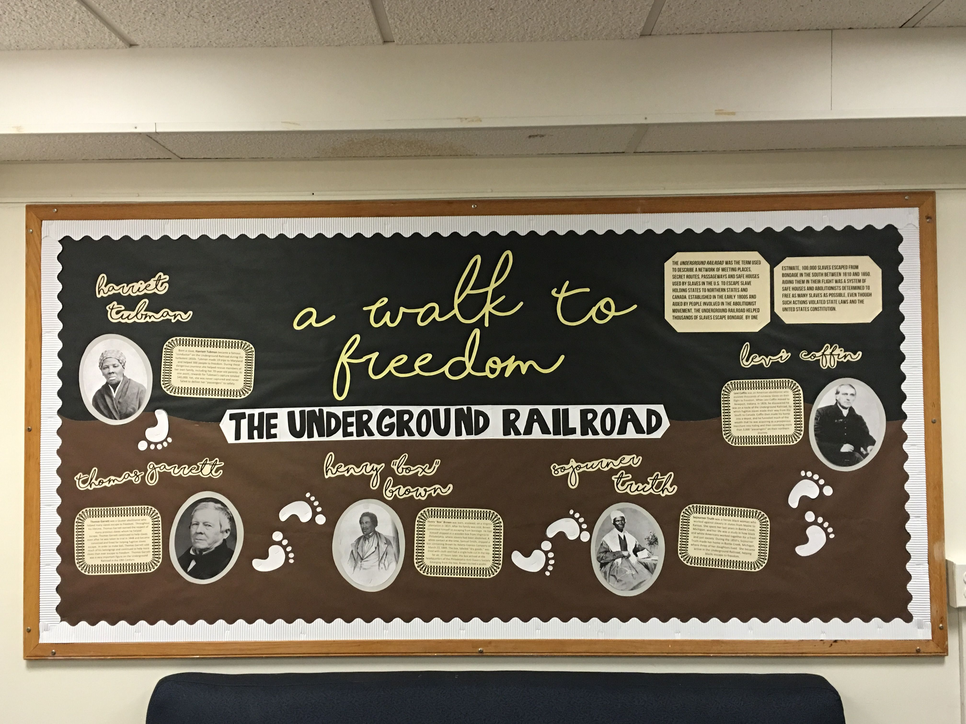 Black History Month Underground Railroad Bulletin Board
