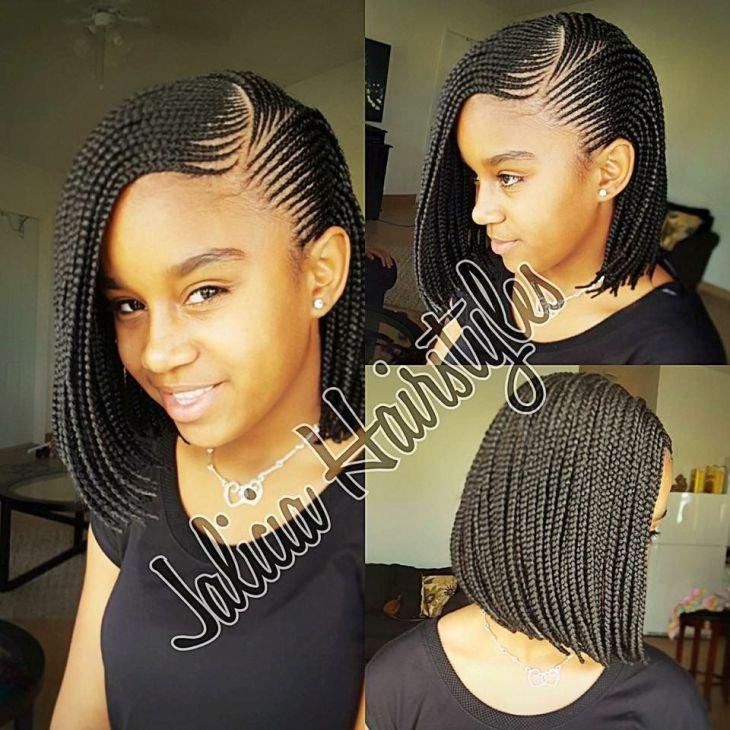 Cute braided bob braids Pinterest Bobs