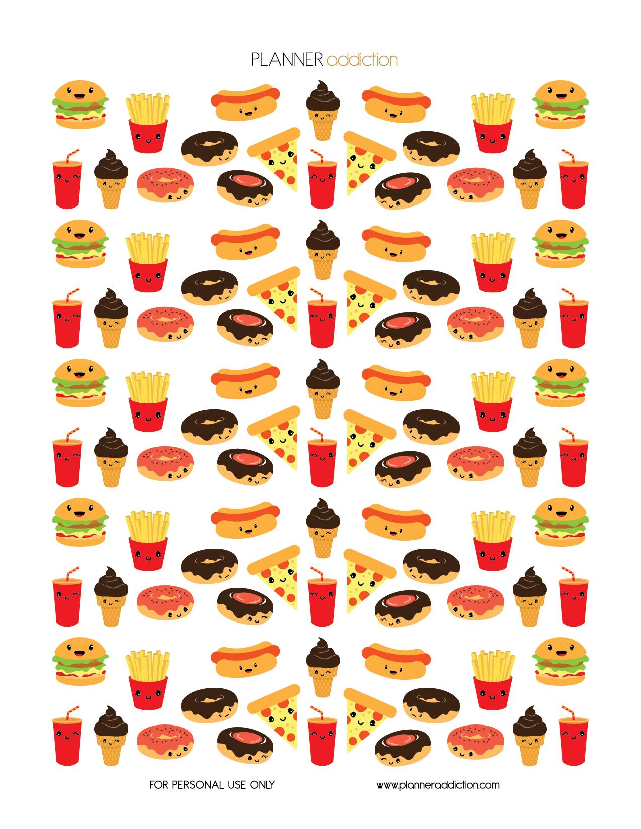 Fast Food Kawaii Planner Addiction