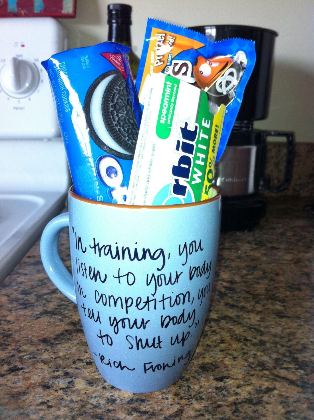 Diy sharpie mug with the boyfriends favorite goodies