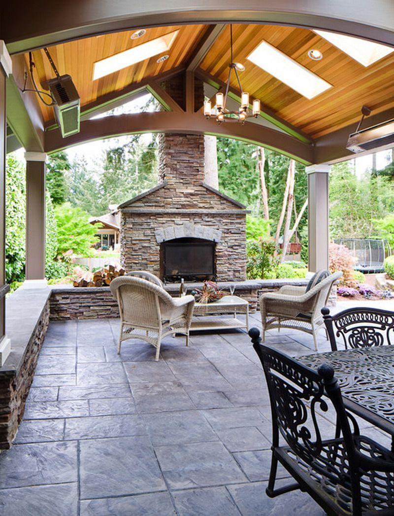 Scandinavian Outdoor Living Area Style comes with Stacked ... on Covered Outdoor Living Area id=59856
