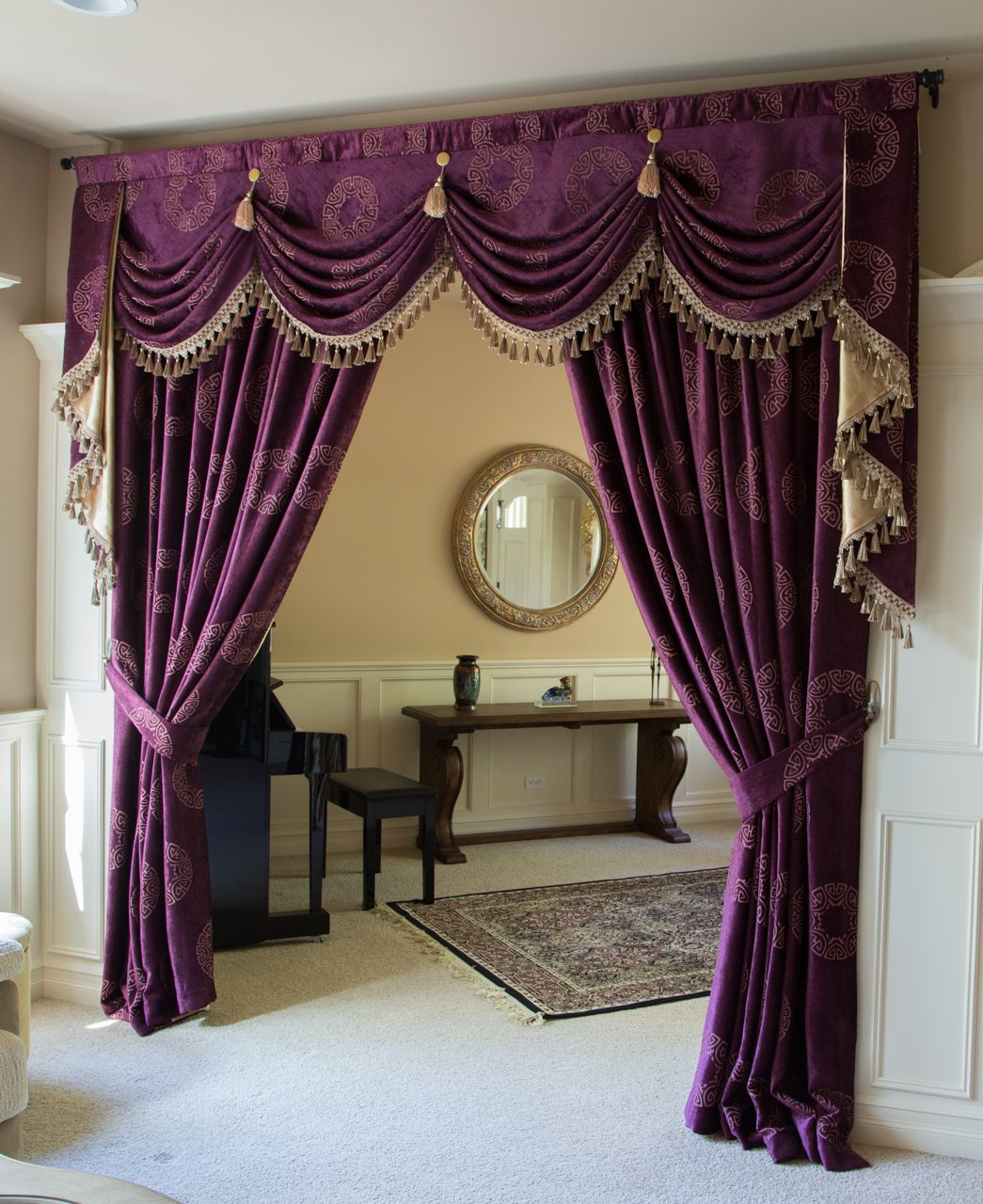 Orchid Imperial Austrian Swag Style Swag Valance Curtain