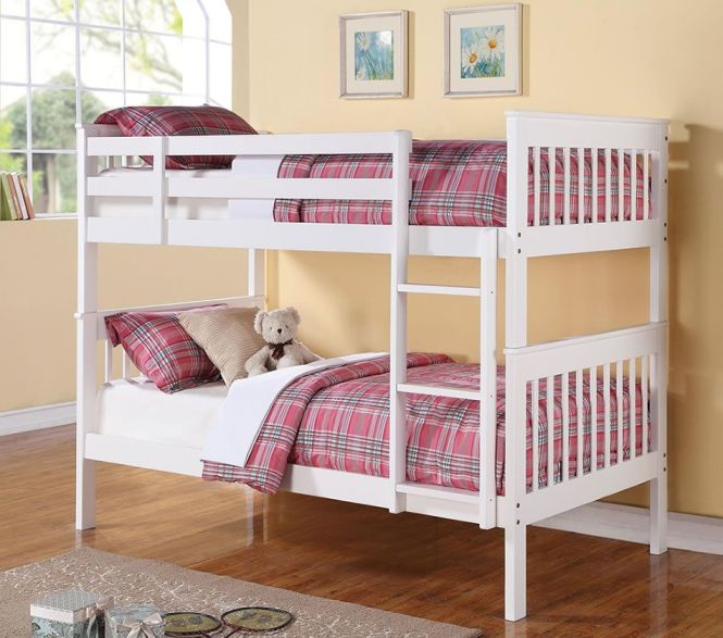 Coaster Bunks Twin Over Bunk Bed With Full Length Guard Rails Fine Furniture