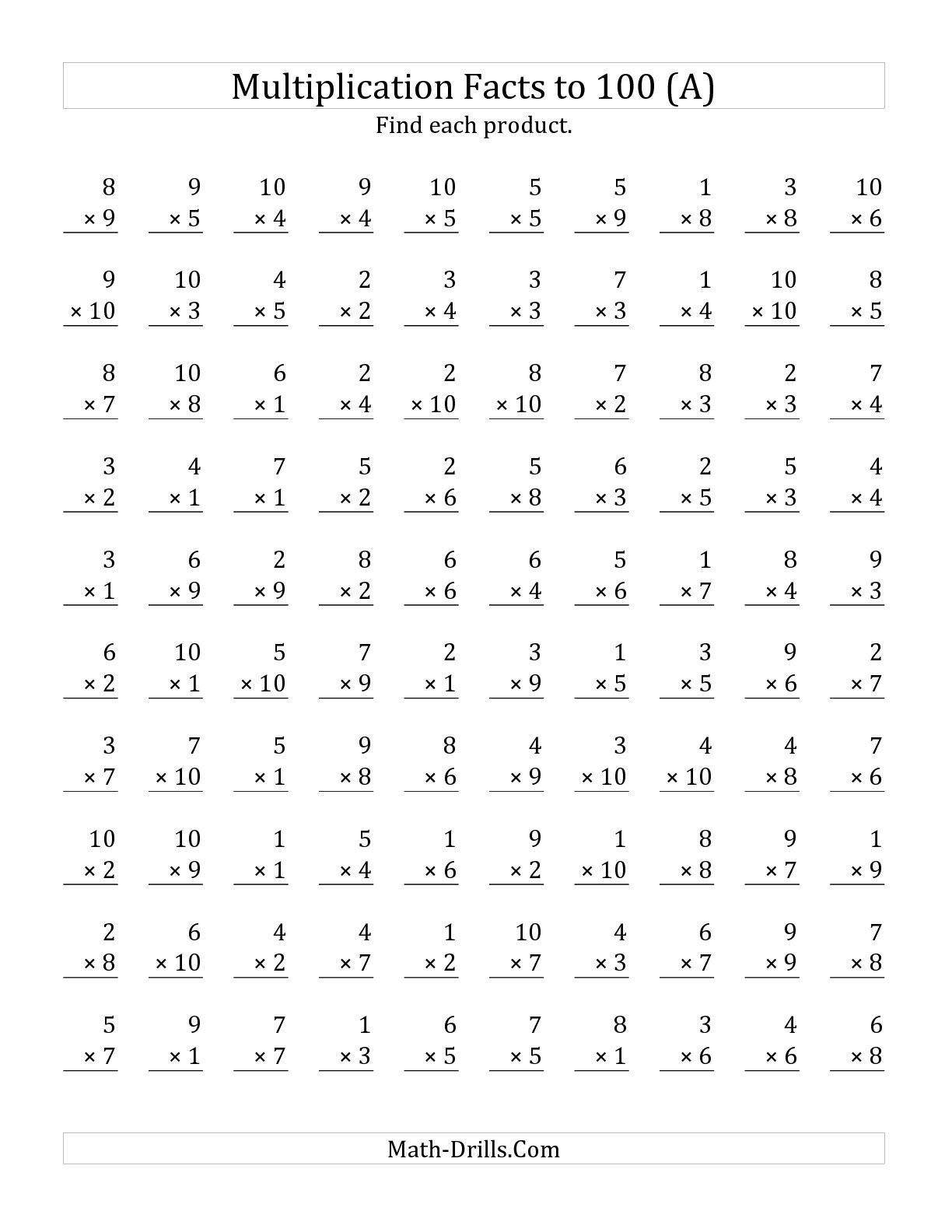 Worksheet Division Timed Test 100 Problems Grass Fedjp