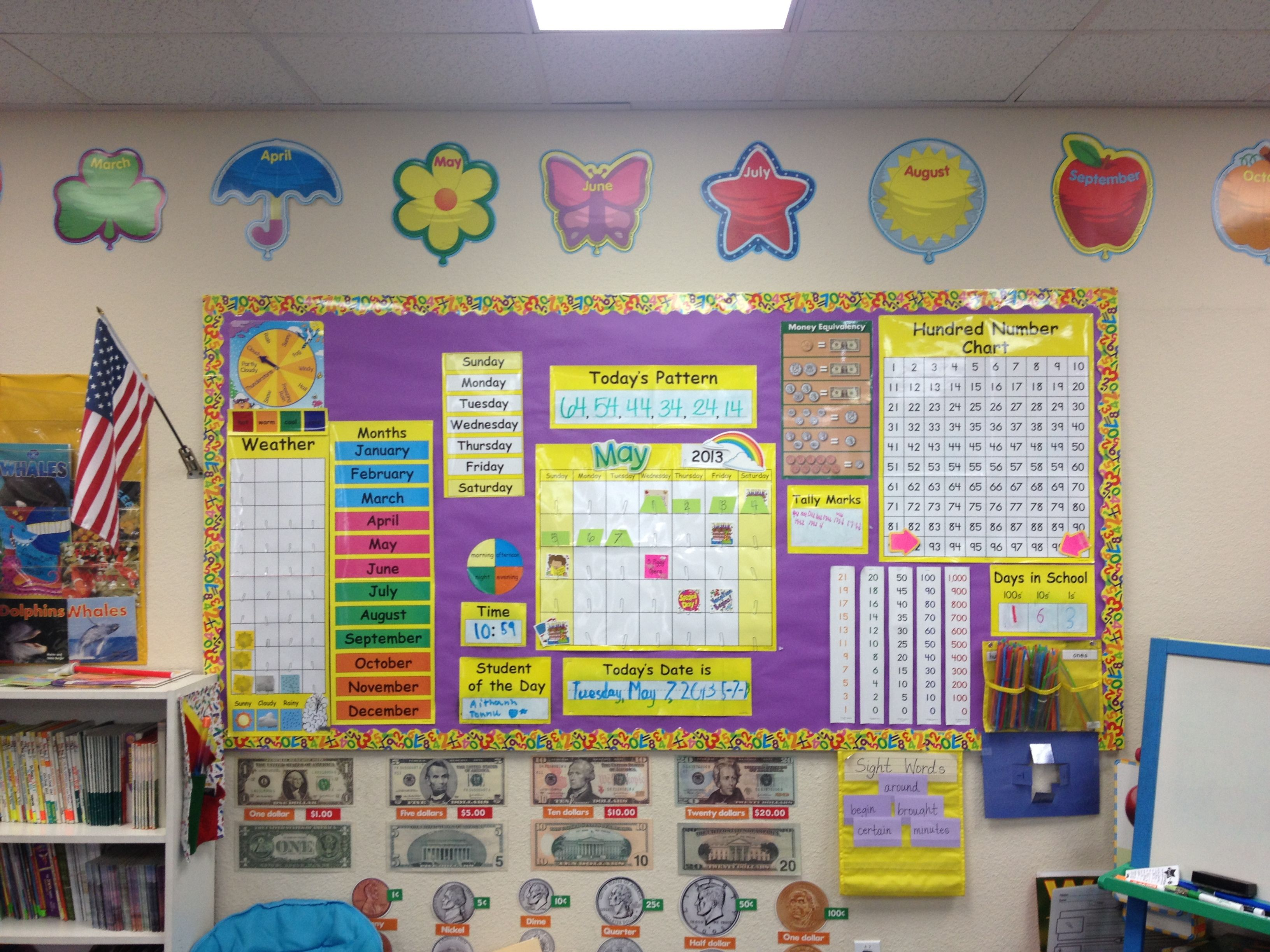 Math Meeting Board