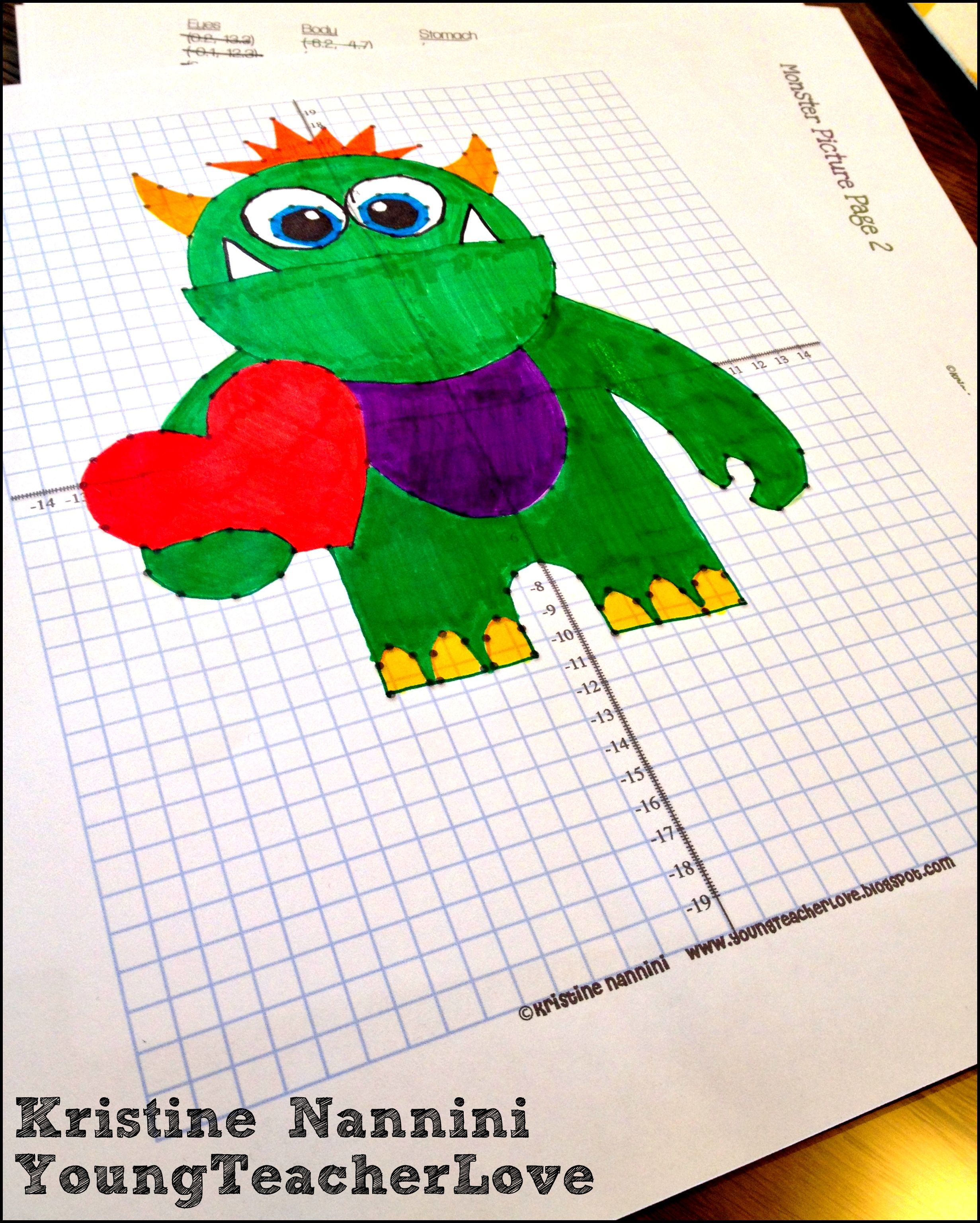 Graphing Ordered Pairs Worksheet To Make A Picture