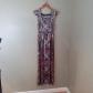 One world maxi dress m long stretchy tank top boho maxi dresses